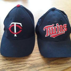 2 MN Twins Baseball caps size Ajustable